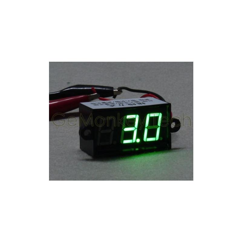 DIGITAALNE LED VOLTMEETER VEEKINDEL ROHELINE 4-30VDC