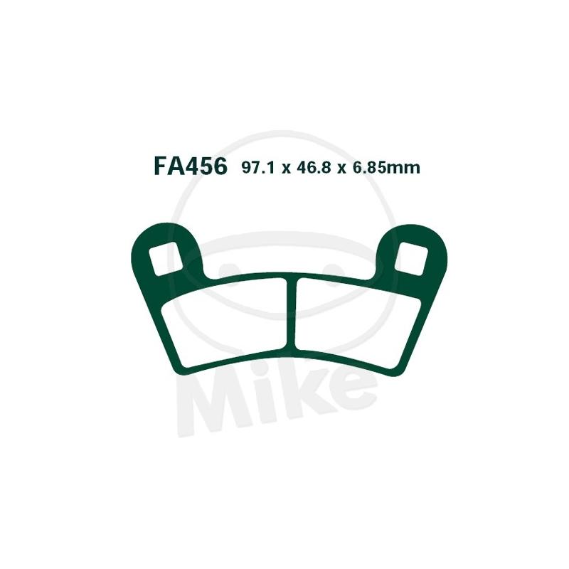 PIDURIKLOTSID EBC FA456R RACING SINTER POLARIS QUAD