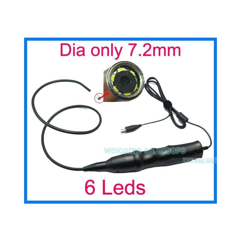 a32d218dac6 ENDOSKOOP MEHAANIKULE D7.2 MM KAAMERA 6 LED VALGUSTIGA USB VEEKINDEL ...