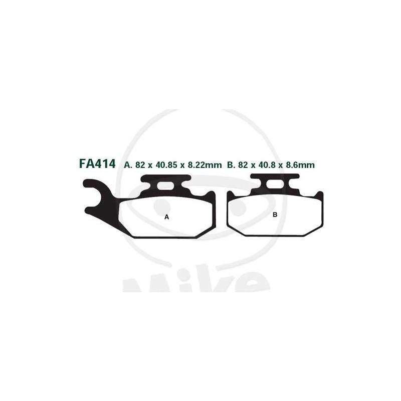 PIDURIKLOTSID EBC FA414R SINTER RACING