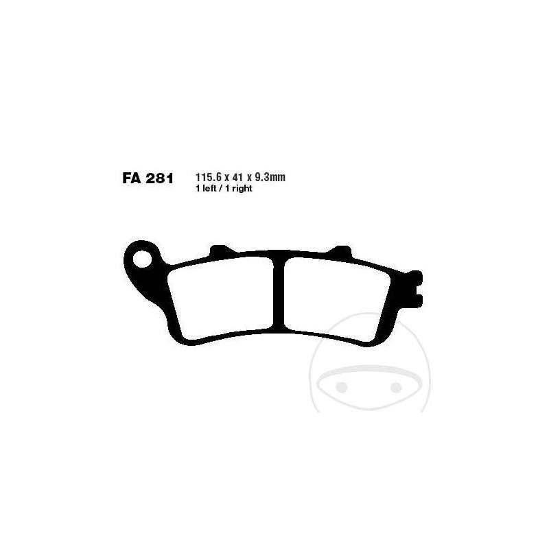 PIDURIKLOTSID FERODO FDB2075ST SINTER (=FA281HH)