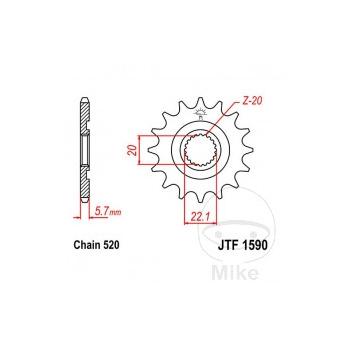 KETIRATAS F1590-13SC EESMINE JT