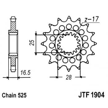 KETIRATAS F1904-17T EESMINE JT