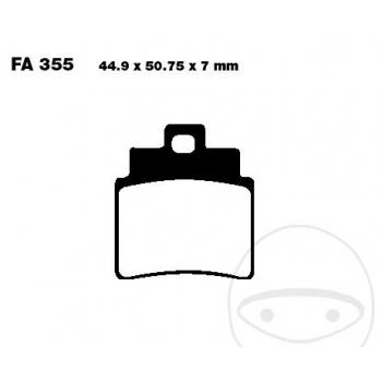 PIDURIKLOTSID EBC SFA355 SCOOTER