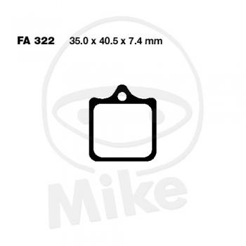 PIDURIKLOTSID EBC SINTER FA322/4HH (4 KLOTSI KOMPLEKT)