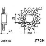 KETIRATAS F284-14T EESMINE KERGENDATUD JT