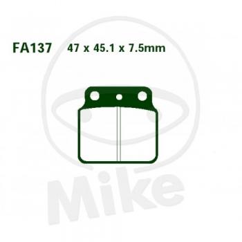 PIDURIKLOTSID EBC FA137R RACING SINTER