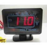 VOLTMEETER 9-40VDC LED PUNANE