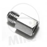 PEEGLI ADAPTER M10X1.25 SISE PAREMKEERE -> M10 VÄLIMINE VASAKKEERE KROOM
